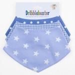 selection of blue bandana dribble bib