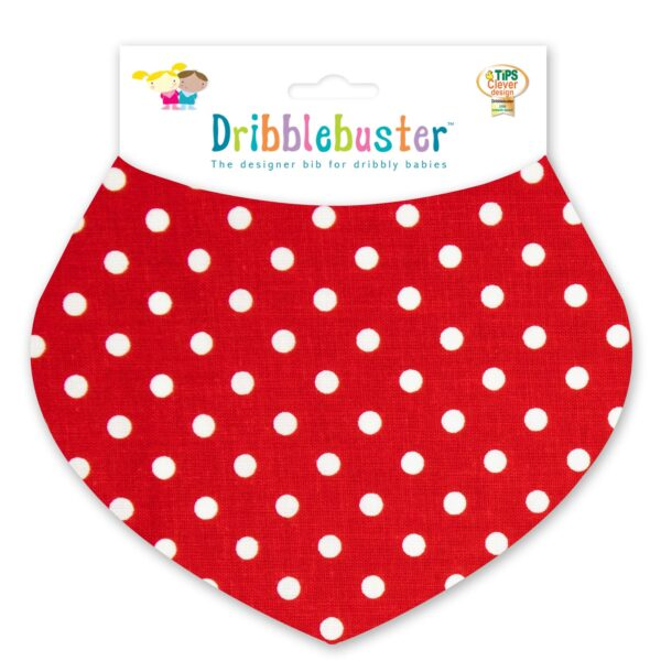 Red Baby Dribble Bib