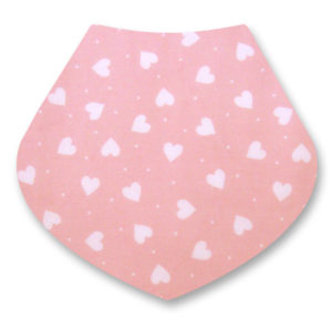 White Hearts 0n Pink Bandana Dribble Bib