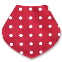 Red/White Spotty Bandana Dribble Bib