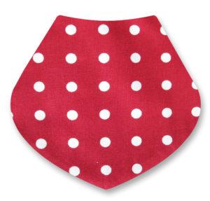 Red/White Spotty Bandana Dribble Bib