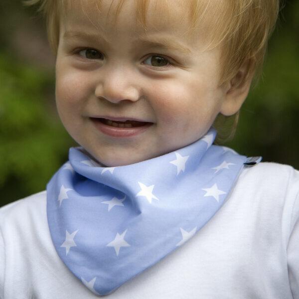 blue starry bib
