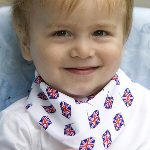 UK Flags Baby Dribble Bib