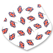 UK Flags Bandana Dribble Bib