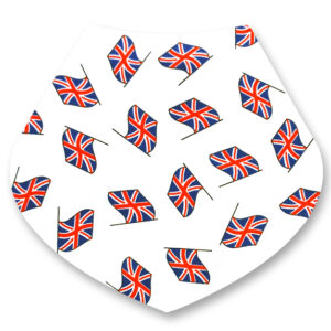 UK Flags / White Bandana Dribble Bib