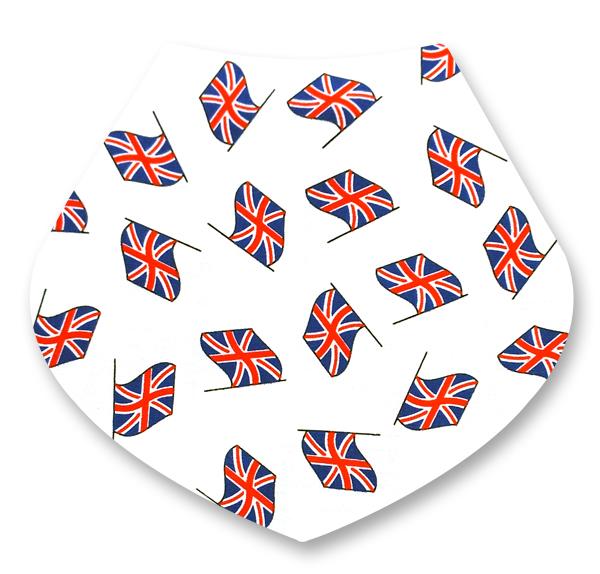 UK Flags / White Bandana Dribble Bib