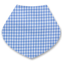 Blue Gingham Bandana Dribble Bib