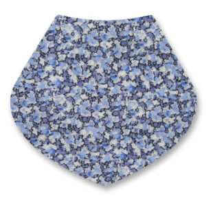 liberty print baby bib blue pepper