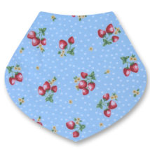 Strawberries on Blue Bandana Dribble Bib