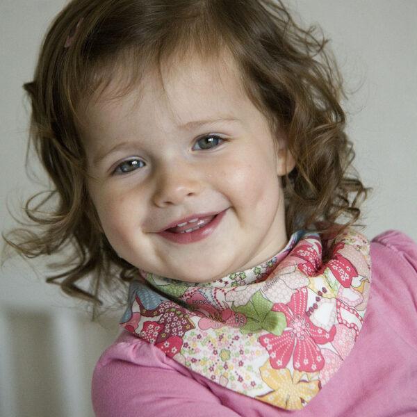 Floral Baby Dribble Bib