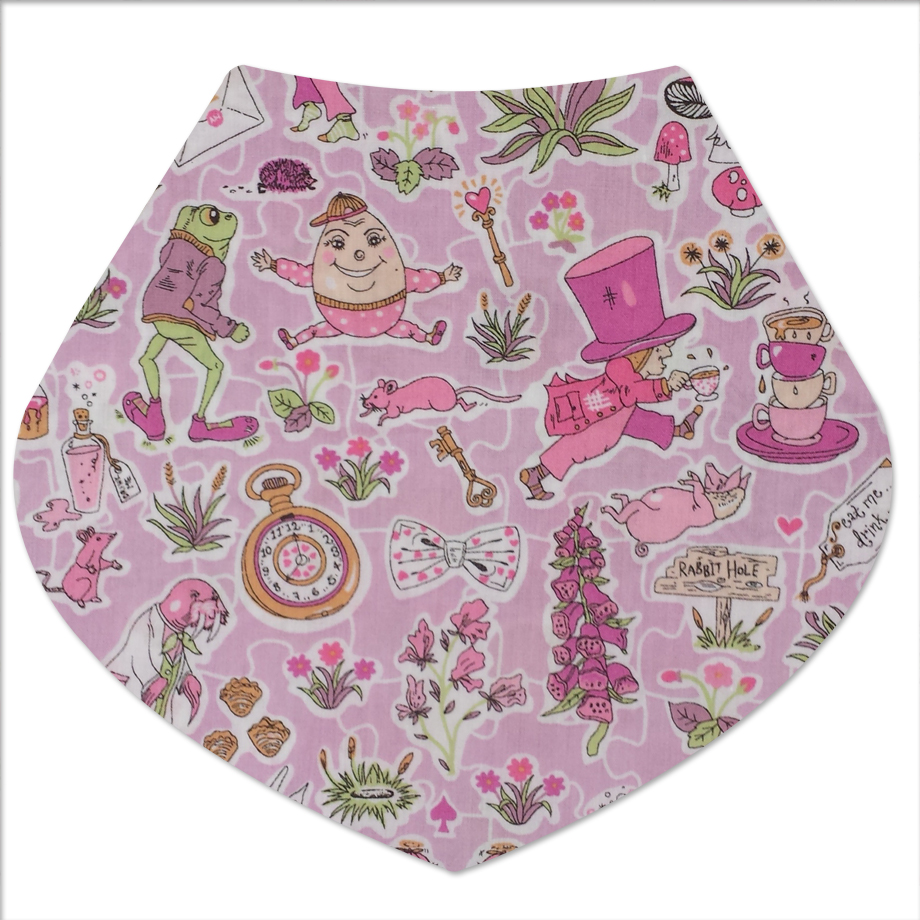 dribble bib alice in wonderland