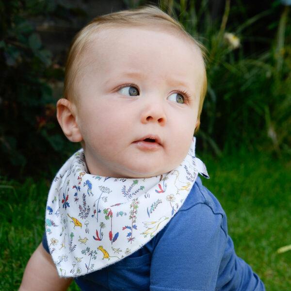 Designer baby dribble bib