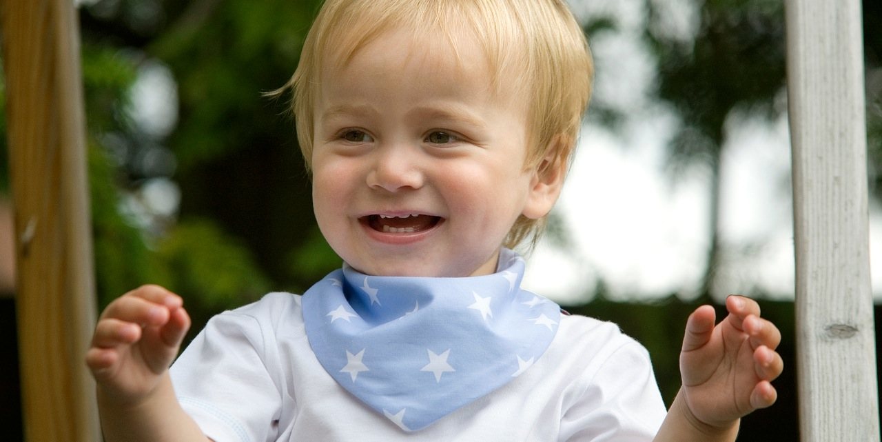 Starry blue dribble bib