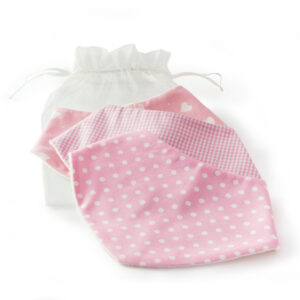 pink dribble bibs by dribblebuster