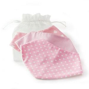 pink dribble bibs by dribblebuster
