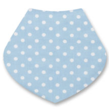 blue dribble bib