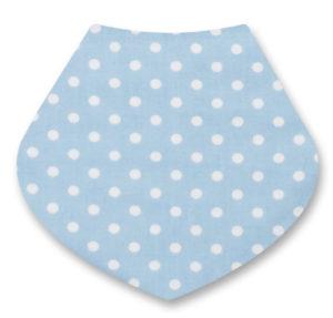baby bib blue spots