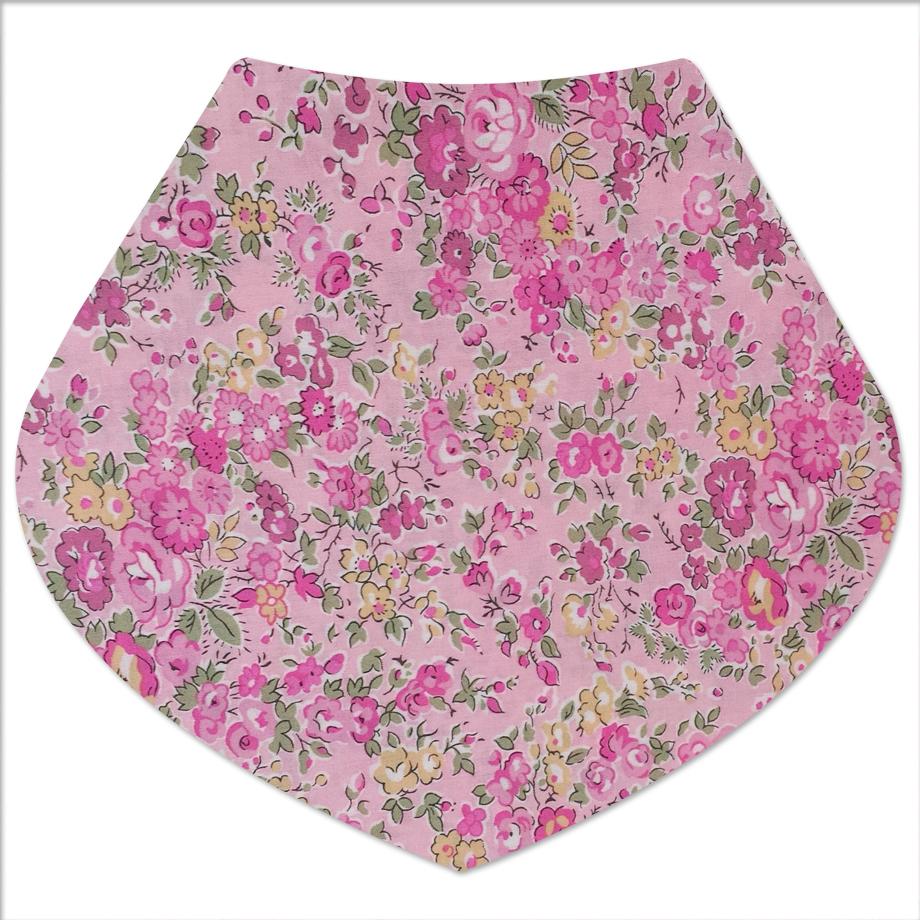 Liberty pink floral dribble bib