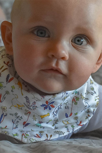 Baby dribble bib Theo
