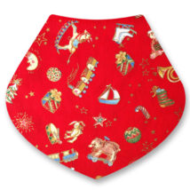 christmas red bib