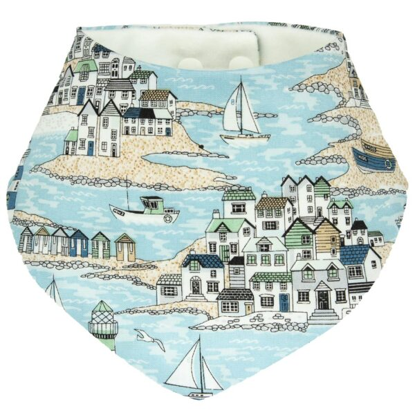 Seaside blue dribble bib
