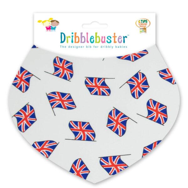 UK flags baby bib