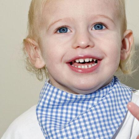 Teething bib for baby boys