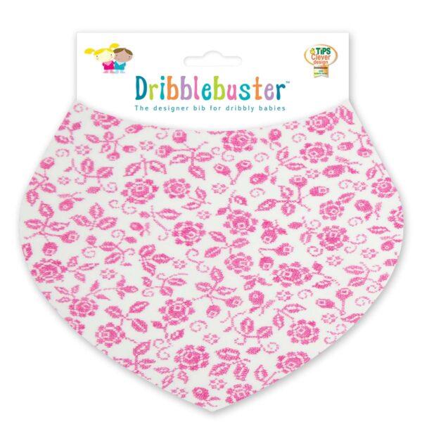 Pink Floral Print Baby Dribble Bib