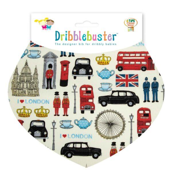 London Print Baby Dribble Bib