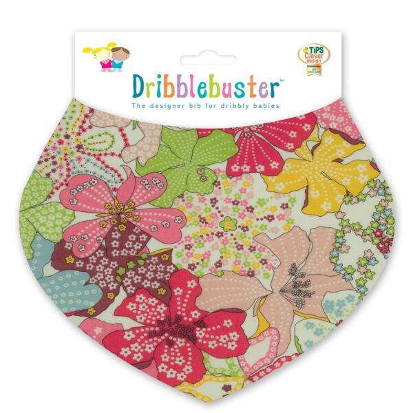 Floral Print Baby Dribble Bib
