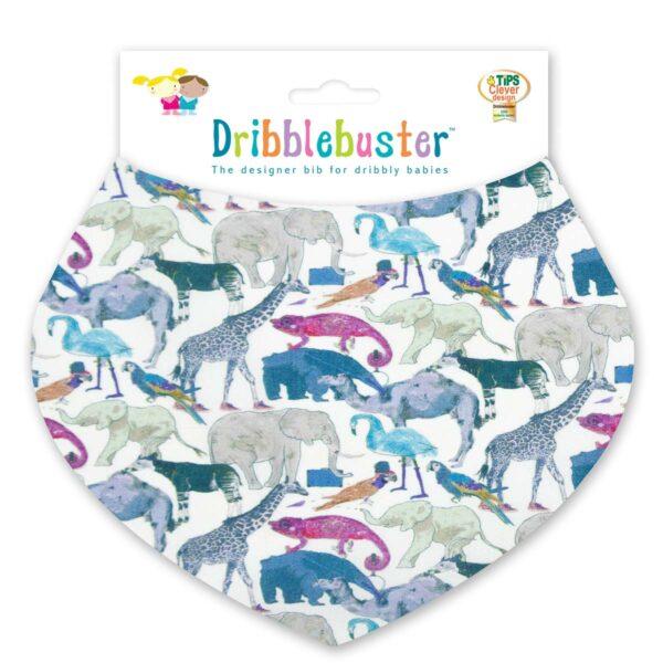 Animal Print Baby Dribble Bib